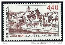 N° 2894  Argentat Corrèze Faciale 4,40F - France