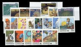 1986, Australien, 972-78 U.a., ** - Australien