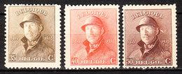 172/74*  Roi Albert Casqué - Bonnes Valeurs - MH* - LOOK!!!! - 1919-1920 Roi Casqué