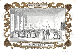 Porceleinkaart - Fabrique De Dentelles J.J De Craene - Brugge - Bruges -14x10.5 Cm - Brugge