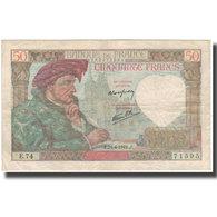 France, 50 Francs, Jacques Coeur, 1941-04-24, TB, Fayette:19.9, KM:93 - 1871-1952 Antichi Franchi Circolanti Nel XX Secolo