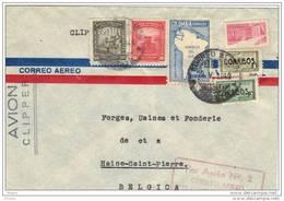 COLOMBIE, 1949, OBL SUR LETTRE  PAR AVION.  (FL23) - Colombie