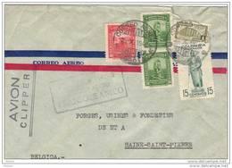 COLOMBIE, 1948, OBL SUR LETTRE  PAR AVION.  (FL24) - Colombie