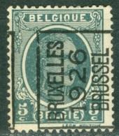 Belgique   Preo  141 A  *  Quasi  * *  TB    Bruxelles 1926 - Prematasellados