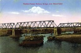 Tientsin Pukow Railway Bridge Over Grand Canal - Cina