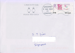 Singapore 2020 Rat Year Zodiac ATM Frama Machine Label  Cover Slogan Postmark Lunar New Year - Chines. Neujahr