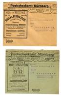 Postsache 2x Postscheckamt München 1923 Nach Kitzingen - Unclassified