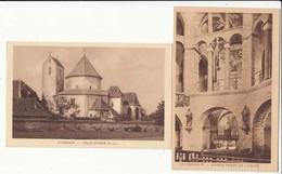 CPA France 68 - Ottmarsheim -2 Cartes Sur L'Eglise -  Achat Immédiat - (cd018 ) - Ottmarsheim