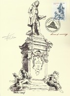2007 VALENCIENNES Y&T N° 4012 La Statue De Watteau Signée Par Les Auteurs Du Timbre Et De La Carte - Lettres & Documents