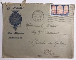 2 Enveloppes Timbrées. Centenaire De L'Algérie - France