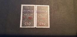 Algérie Yvert TCP 70** Paire - Paquetes Postales