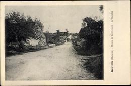 Cp Gouville Sur Mer Manche, Route De Coutances, Le Moulin - Autres Communes