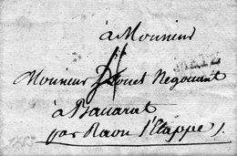 """Linéaire """"METZ"""",Lenain N° 16,L.A.C. Du 22/12/1783 Pour BACCARAT. - 1701-1800: Voorlopers XVIII"""