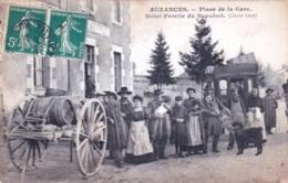 23 - Creuse  - AUZANCES - Place De La Gare - Hotel Perelle Du Beaufret - Auzances