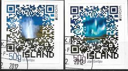 2012 Island Mi. 1361-2 D Used  Booklet Stamp  D = Dreiseitig Gestanzt 18 - 2012