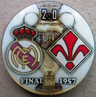 Pin Champions League UEFA Final 1957 Real Madrid Vs Fiorentina - Fussball