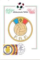 ITALIA 90    1990 MAXIMUM POST CARD (GENN200315) - 1990 – Italië