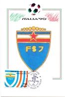 ITALIA 90    1990 MAXIMUM POST CARD (GENN200322) - 1990 – Italië