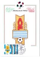 ITALIA 90    1990 MAXIMUM POST CARD (GENN200323) - 1990 – Italië