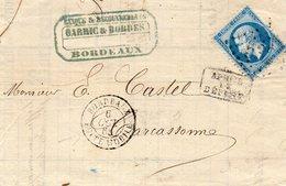 Boîtes Monile BORDEAUX,cachet 15,après Le Départ,L.A.C. Du 6/10/ - Marcophilie (Lettres)