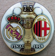 Pin Champions League UEFA Final 1958 Real Madrid Vs Milan - Fútbol