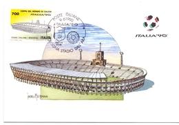 ITALIA 90    1990 MAXIMUM POST CARD (GENN200332) - 1990 – Italië