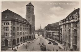 AK - Schweiz - St. Gallen Strassenansicht Mit Bahnhof - 1930 - SG St. Gallen