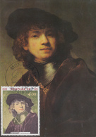 Carte Maximum  1er  Jour   MONACO    Oeuvre  De  REMBRANDT   1981 - Rembrandt