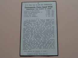 DP > E. Pater Jozef VOS Missionaris SCHEUT CHINA > Herk-De-Stad 12 Sept 1917 - SHANGHAI 16 Oct 1951 ! - Obituary Notices