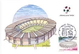 ITALIA 90    1990 MAXIMUM POST CARD (GENN200337) - 1990 – Italië