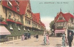 Dépt 14 - DEAUVILLE - Rue De L'Écluse - (ELD N° 428) - Colorisée - Magasin AU PRINTEMPS - Deauville