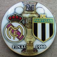 Pin Champions League UEFA Final 1966 Real Madrid Vs Partizan Beograd - Fútbol