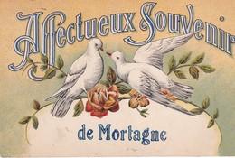 (61) Affectueux Souvenir De MORTAGNE   (Couple De Colombes) - Mortagne Au Perche