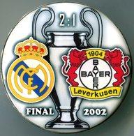 Pin Champions League UEFA Final 2002 Real Madrid Vs Bayer-04 Leverkusen - Fussball
