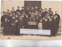CPA PHOTO - 78 - SAINT-GERMAIN-en-LAYE (Probablt) - ECOLIERS Avec Ardoise Année De La Guerre 1914-1915 Voir Description - Cartes Postales