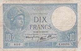 Billet De  10 Francs  Minerve  1940 - 1871-1952 Antichi Franchi Circolanti Nel XX Secolo
