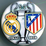 Pin Champions League UEFA Final 2016 Real Madrid Vs Atletico Madrid - Fussball