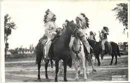Carte Photo Inians Of Montana RV Beau Timbre 10 United !states Postage - Indiens De L'Amerique Du Nord