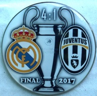Pin Champions League UEFA Final 2017 Real Madrid Vs Juventus Torino - Fútbol