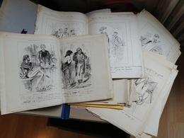 RARE : GROS LOT DE PLUS DE 600 DESSINS ALFRED GREVIN 1827-1892 - Disegni