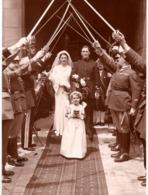 Marin C.1930 ? - Photo Militaire Officier De La Marine Nationale N°4 Sur Le Képi - Avec Sabre - Mariage - Guerre, Militaire