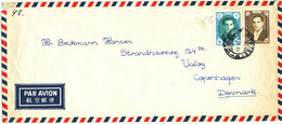 Iran Air Mail Cover Sent To Denmark 10-6-1957 - Iran