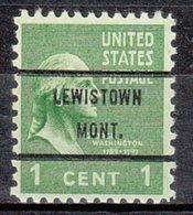 USA Precancel Vorausentwertung Preo, Bureau Montana, Lewinston 804-71 - Vereinigte Staaten