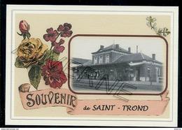 SAINT  TROND  ...2  Cartes Souvenirs  Gare + Train  Creation Moderne Série Limitée - Sint-Truiden