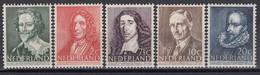 Niederland 1947 - Persoenlichkeiten, Mi-Nr. 490/94, MNH** - 1891-1948 (Wilhelmine)