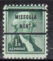 USA Precancel Vorausentwertung Preo, Bureau Montana, Missioula 1031-71 - Vereinigte Staaten