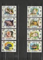 Dubai - 8 Timbres Les Poissons - Année 1969 - YT 103-A  à 103-H - Dubai