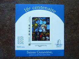 2020 RARE Timbre Sainte Geneviève 16ème Centenaire Vitrail Stained Glass  ** MNH - Adhésifs (autocollants)