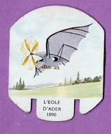 Plaque Publicitaire En Metal Moutarde Parizot Avion  L Eole D Ader 1890 - - Plaques En Tôle (après 1960)