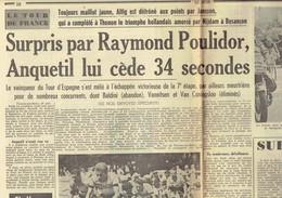 Tour De France 1964 : Poulidor Reprend 34 Secondes à Anquetil ! + Nijdam + Jan Janssen (Le Soir Des 28 Et 29/6/1964) - Kranten